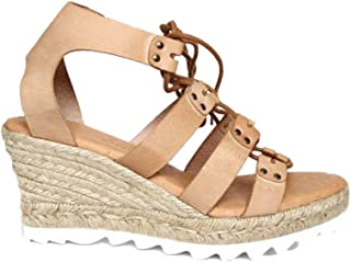 Agilis Barcelona Womens Platform Wedge Leather Shoes with Memory Insole, Aragon