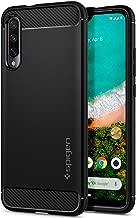 Spigen, Funda Compatible con Xiaomi Mi A3 [Rugged Armor] Absorción de Choque Resistente y diseño de Fibra de Carbono [Compatible con Carga Inalámbrica] - [Negro Mate] S51CS26397