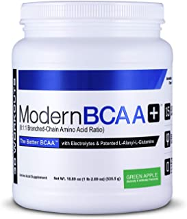 Modern BCAA+ Essential Amino Acid (EAA) Branched Chain Amino Acid (BCAA) Muscle Recovery Supplement Powder Drink Mix, Gree...