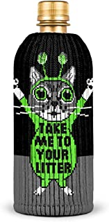FREAKER Fits Every Bottle Can Beverage Insulator, Stops Bottle Sweat, Take Me To Your Litter Aliens Cats