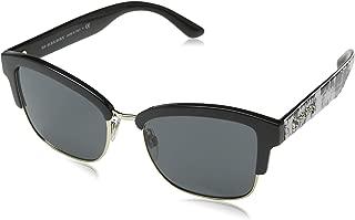 Burberry Half Frame Sunglasses For Women, Grey - BE4265 37238754