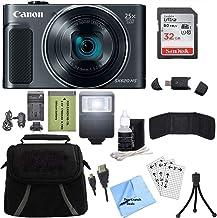 Canon PowerShot SX620 HS 20.2MP Cámara digital (negro) con tarjeta de 32GB + paquete de accesorios TopKnotch