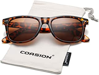 COASION Classic Polarized Sunglasses for Men Women Retro UV400 Brand Designer Sun Glasses