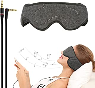ACOTOP Headphones Sleep Eye Mask with Ultra Thin Speakers, Perfect for Sleep Noise Canceling Headphones, Air Travel, Meditation and Relaxation (Dark Grey)
