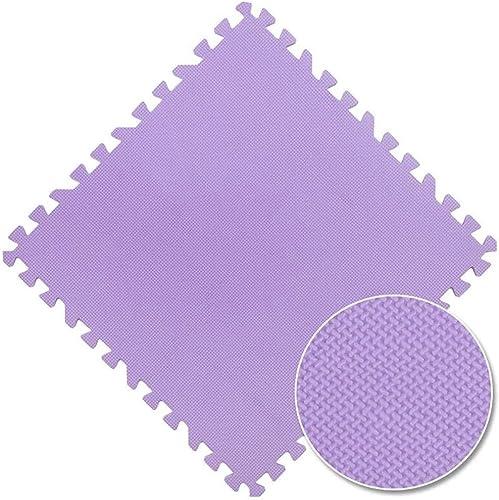 WHAIYAO Tapis Mousse Enfant Ménage Gym Jeu d'enfant épissure Puzzle Tapis d'exercice PE, 8 Couleurs,2 Tailles (Couleur   violet, Taille   9pcs-60x60X1cm)