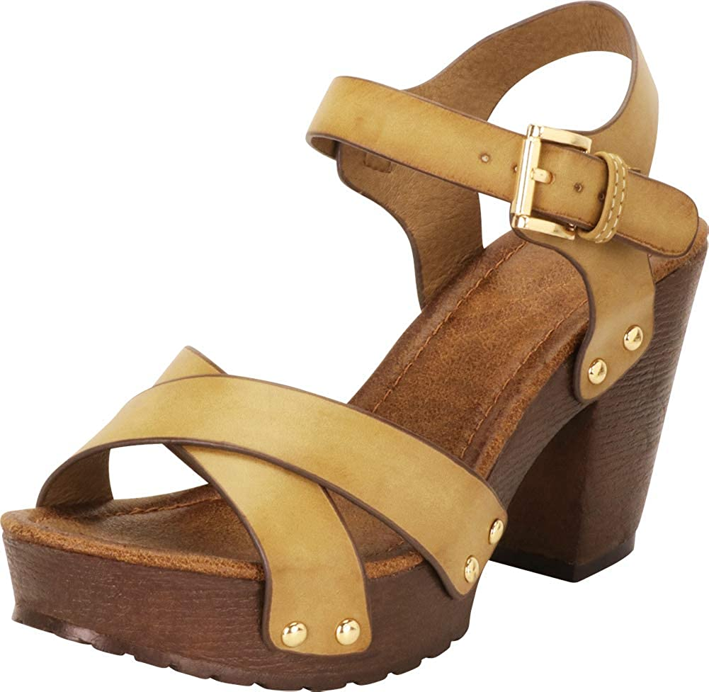 Cambridge Challenge the lowest price Select Women's Retro 70s Studded Crisscross Strap Super special price Clog