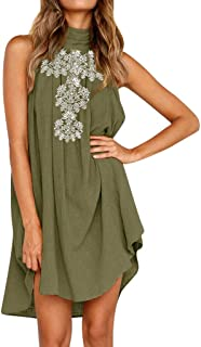 Mini Dresses, FORUU Women Holiday Irregular Ladies Summer Beach Sleeveless Party