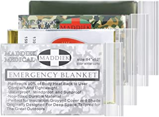 Emergency Blankets Extra Large Thermal Mylar Foil Space Blanket Heat Sheets for Hiking, Marathon Running, First Aid Kits, ...