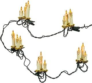 Kurt Adler 15-Light Triple Candle Light Set with Ivory Candle Shaft