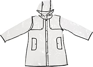 SUNTRADE - Chubasquero impermeable para mujer y niña, impermeable, ligera, resistente a la lluvia, con capucha, para viajes
