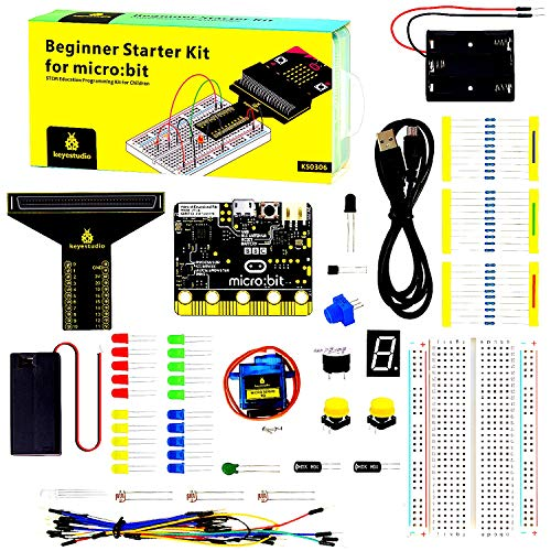 KEYESTUDIO BBC Micro:bit Kit de Principiantes con Guía Leçons, Photo y Tutoriels Aprendizaje Simple para Microbit Kit