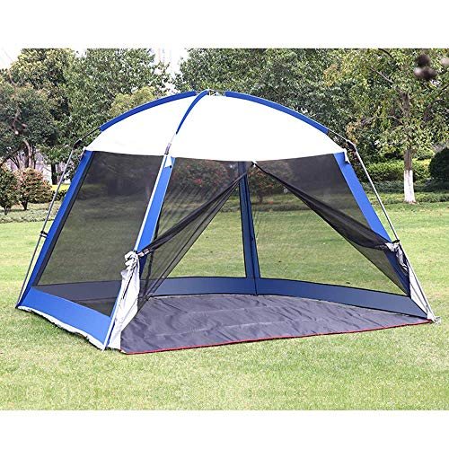 LLSS 3×3m Outdoor Garden Tent with Mosquito Side Net,Metal Gazebo Awning Curtains Cover Waterproof Canopy for Camping,Large Event Tent with Sun Protection
