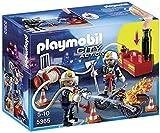 PLAYMOBIL Bomberos - Playset con Figuras y Bomba de Agua (5365)