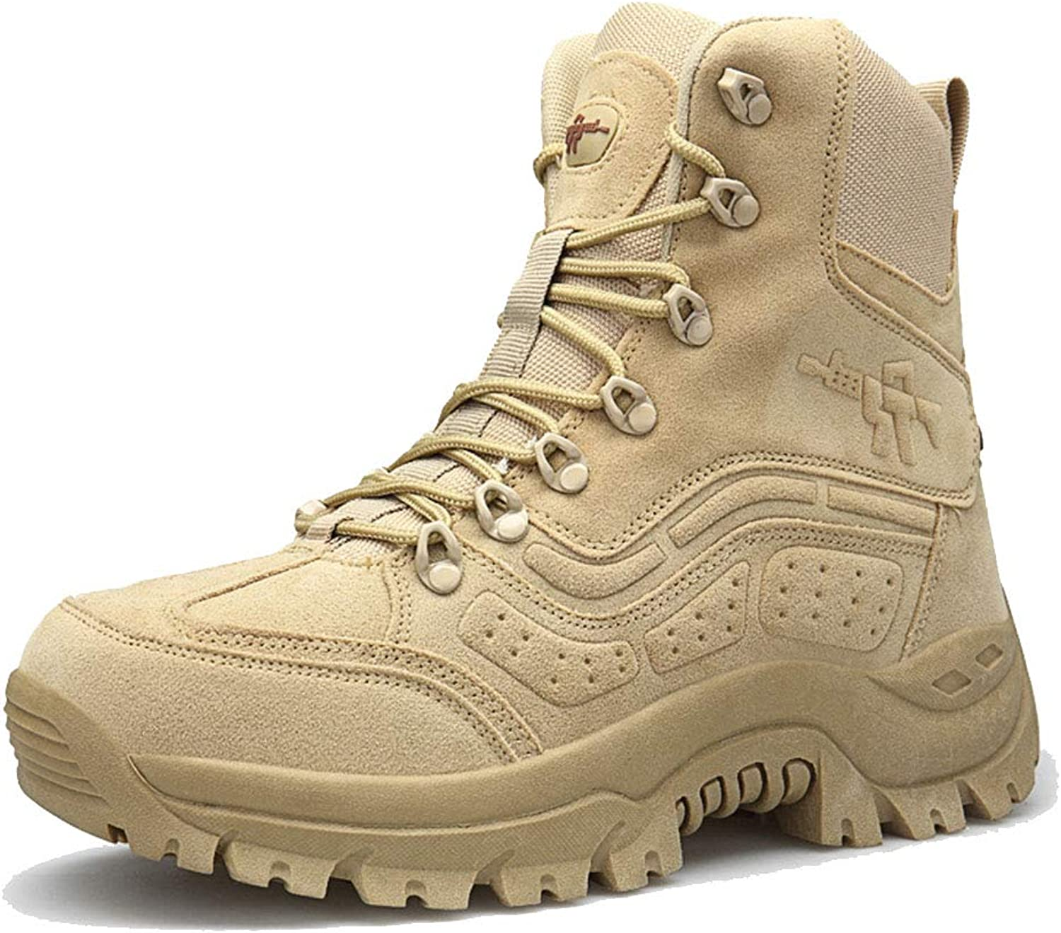 c7568d7a976 SDKHIN Men's tactical boots military desert side zip Large size high ...