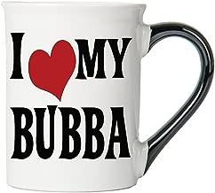 Cottage Creek Bubba Mug Large 18 Ounce Ceramic I Love My Bubba Coffee Mug/Bubba Gifts Bubba Cup [White]