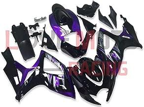 LoveMoto Fairings for suzuki GSX-R600 GSX-R750 K6 2006 2007 06 07 GSXR 600 750 ABS Injection Mold Plastic Motorcycle Fairing Set Kits Purple Black