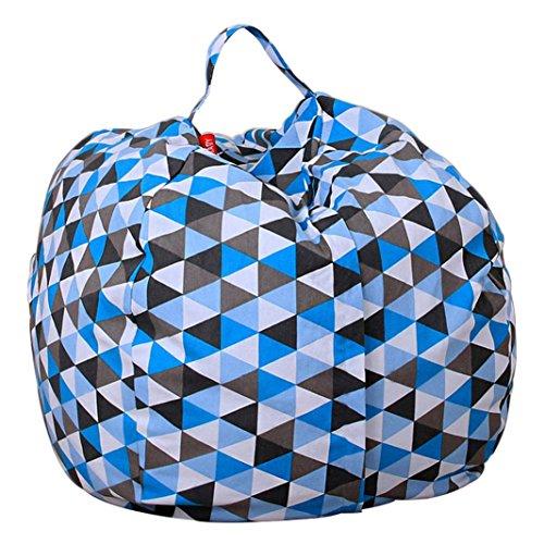 Stofftier Kuscheltiere Aufbewahrung Aufbewahrungstasche Sitzsack Kinder Soft Pouch Stoff Stuhl (One Size, C)