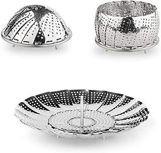 Stainless Steel Vegetable Steamer Folding Steamer Basket/Insert for Pans & Pressure Cookers (Small)