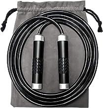 Pasking Gewogen Jump Touw, Premium Zware Jump Touw met Verstelbare Extra Dikke Kabel Aluminium Siliconen Grips Handvatten ...