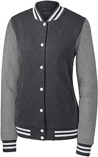 Ladies Fleece Letterman Jacket Sizes XS-4XL