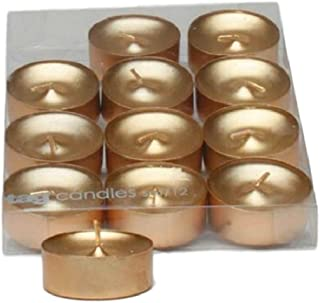 Metallic Shimmer Gold Tealight Candles, Set of 12 Tea Lights by TL