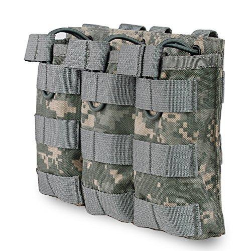 XUE Magazin Pouch Pistole Molle Flecktarn ACU für M4 M16 AR-15 Magazintasche Airsoft Magazin Tasche Tactical Rucksack Weste Belt Zubehör