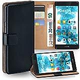 MoEx® Booklet mit Flip Funktion [360 Grad Voll-Schutz] für Huawei P9 Plus | Geldfach & Kartenfach + Stand-Funktion & Magnet-Verschluss, Schwarz