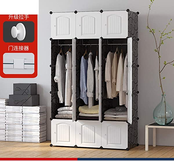 JYXJJKK Bedroom Assembly Wardrobe Children S Storage Closet I