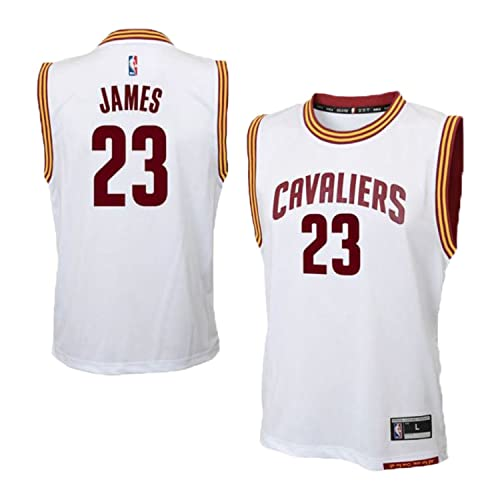 Outerstuff Lebron James Cleveland Cavaliers  23 NBA Youth Home Jersey White 0aba7e2ec