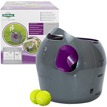 PetSafe Automatic Ball Launcher Dog Toy, Interactive Tennis Ball Throwing Machine for Dogs, Water Resistant
