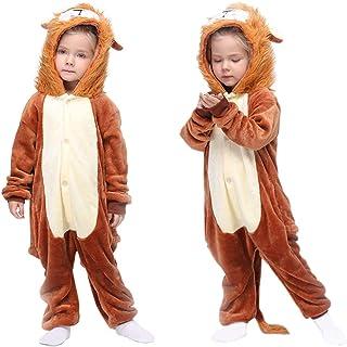 MMTX Pigiama Animali Bambini Unisex, Pigiameria Unicorn/Leone Tutina Onesies Flanella Animal Character Sleepwear Nightwear...