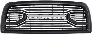 Front Grill for Dodge RAM 2500 3500 2013-2018 Upper Bumper Grille Laramie Limited Grille Matte Black