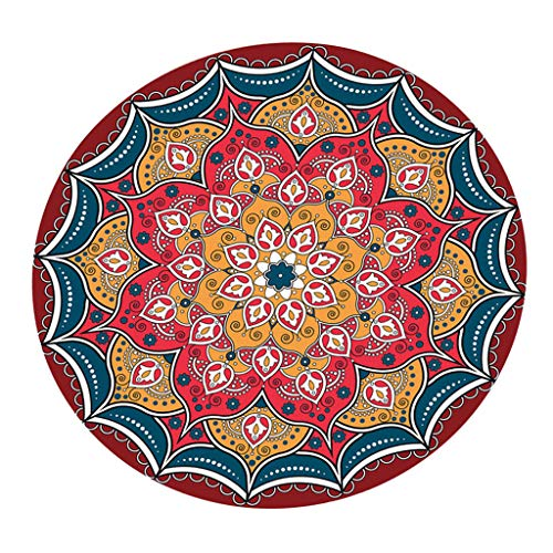 Baoblaze Table Cloth 47 inch to 60 inch Round Table Cover Elastic Edge Fitted Vinyl Circular Tables Protector for Home,Christmas,Holiday Table Decoration - B_47 Inch