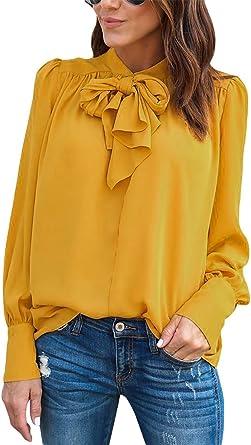 Zauberkirschen - Blusa con lazo grande para mujer (talla XL ...