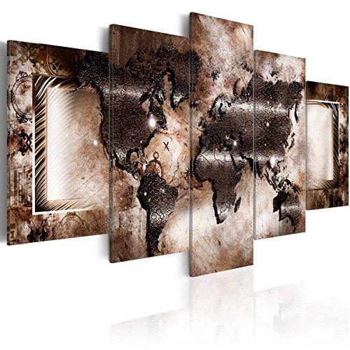 murando - Bilder 200x100 cm Vlies Leinwandbild 5 TLG Kunstdruck modern Wandbilder XXL Wanddekoration Design Wand Bild - Abstrakt Weltkarte 020101-248