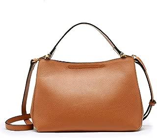 ZXK Simple Multi-Function Large Capacity Shoulder Bag Shoulder Slung Leather Handbag Fashion (Color : Brown)