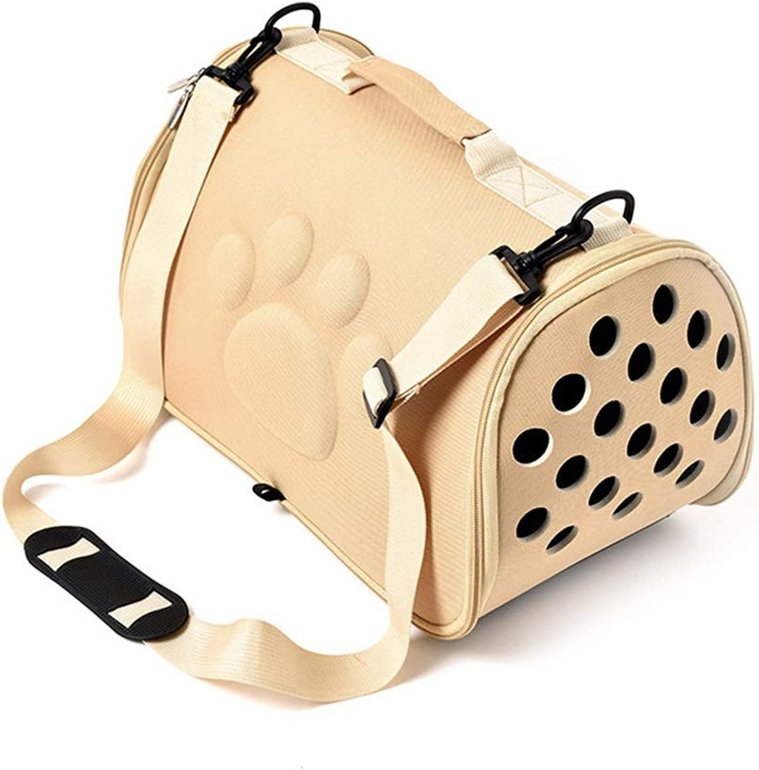 Pet Bag Portable Mobile Diagonal Bag Light Breathable Easy to Clean and Store Out Dog Bag Cat Bag (color   A, Size   Large)