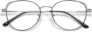 Cat Eye Blue Light Blocking Glasses Hipster Metal Frame Women Eyeglasses She Young