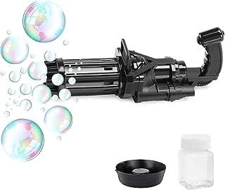 Bubble Machine, Novelty Toys Portable Electric Gatling Automatic Bubble Gun, Rich Bubble Blower Machine Toy Bubble Party S...