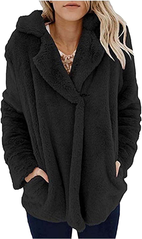 haoricu Faux Fur Shawl Collar Coat Sexy Jackets for Women Fall Trends in Womens Clothing Women Fuzzy Fleece Coat
