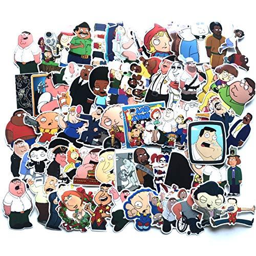 SWJ-swjssb 67 stücke Family Guy Aufkleber Für Cartoon Kinder Koffer Laptop Auto Motorrad Scrapbooking Skateboard Aufkleber