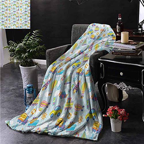 ZSUO bont deken Lente Geïnspireerd Schets Art Stijl Daisy Bloesem en stippen in Levendige Kleuren Leuke Natuur Gezellige en Duurzame Stof-Machine Wasbaar