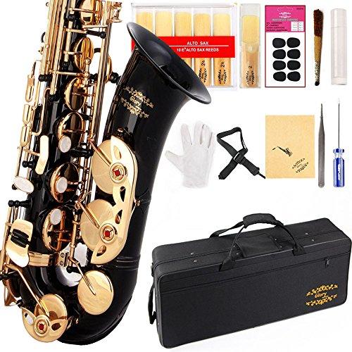 Glory Black/Gold Keys E Flat Professional Alto Saxophone sax