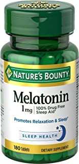 Nature's Bounty (自然之宝) - Melatonin 1毫克。180Tablet(s)