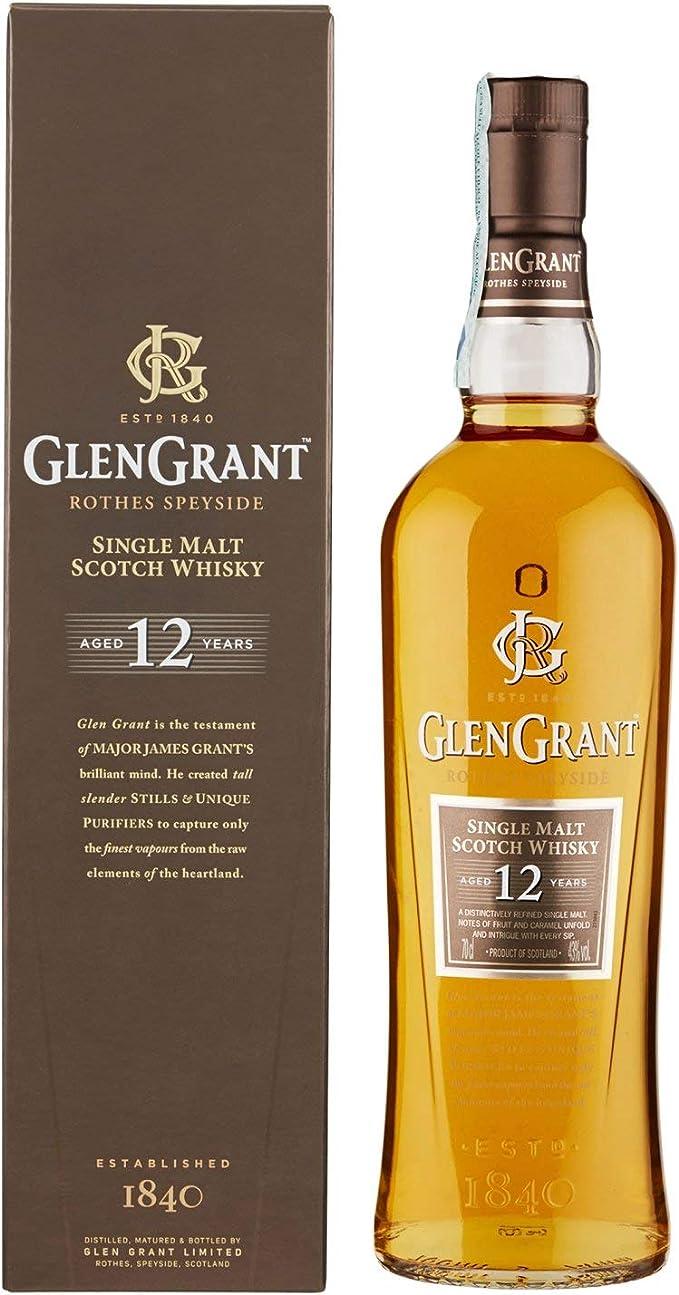 103 opinioni per Glen Grant Single Malt- Whisky Scozzese, Invecchiato 12 Anni con Piacevole Aroma