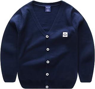 Fashion Boys Falls Spring Stylish Smile Face Woolen Warm Cardigan Sweater