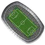 8 Teller * Fussball-Stadion * für Party & Geburtstag // Geburtstag Party Fete Set Fussball Soccer Pappteller Partyteller