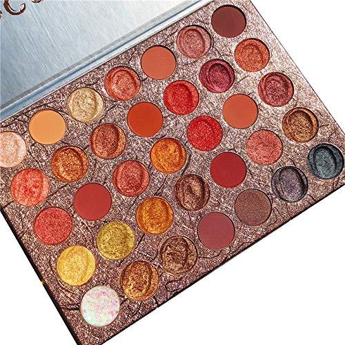 ICYCHEER 35 Farben Lidschatten Palette Matt Bunt, Eyeshadow Palette Creme Hochpigmentierte,...
