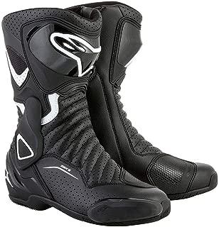 Alpinestars SMX-6 V2 Vented Women's Street Motorcycle Boots - Black/White / 38