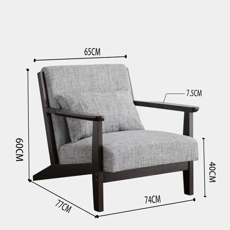Yuansr Moderne Simple Salon Bois Massif Chaise Simple Canapé Chaise de Style européen Tissu Accoudoirs Fauteuil Chambre Balcon Chaise (Color : Green) White